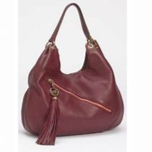 Michael Kors | Wine Charm Tassel Leather Hobo